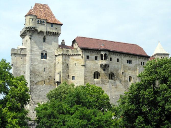 Burg Liechtenstein, Palas und neuer Bergfried, Maria Enzersdorf
