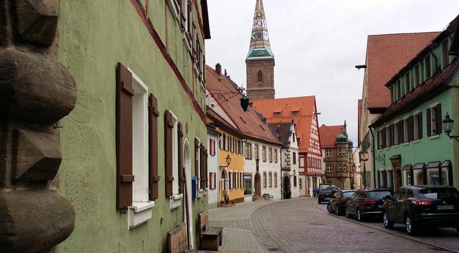 Hauptstraße und LIebfrauenmünster, Wolframs-Eschenbach