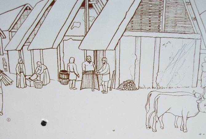 latènezeitliche Siedlung, Schautafel am Sandberg in Niederösterreich