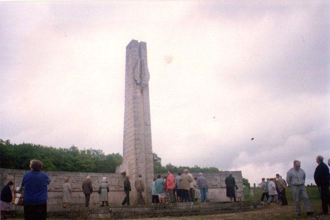 Le monument de la voie sacrée, route de Bar-le-Duc a Verdun qui servit de cordon ombilicale pour le ravitaillement lors de la bataille de Verdun, un camion toutes les quatorze secondes