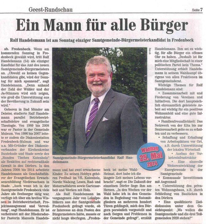 Stader Wocheblatt vom 21.05.2014