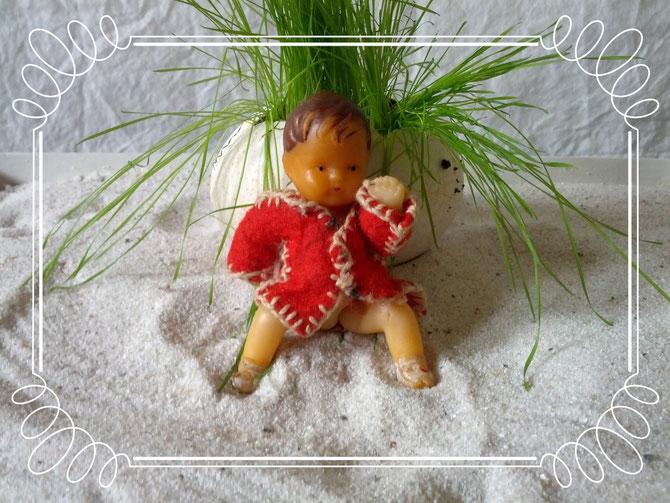 mit einem Mantel aus Filzfetzen bekleidete Puppe, Idee und Ausführung Klein-Beate, Beate Gernhardt, Foto Henriks Porciks