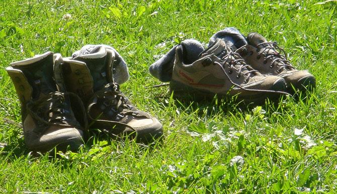 """Schicken Sie Ihre Schuhe bei uns zur Kur und gönnen Sie sich das """"Wie-barfuß-auf-einer-Sommerwiese""""-Geh-Gefühl"""".            Foto: © Zugerli / PIXELIO"""