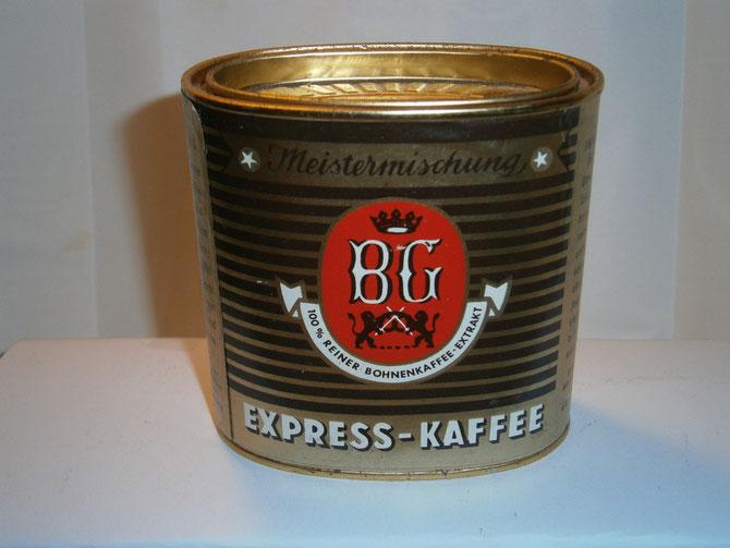 Kaffeedose BG Express-Kaffee 1960