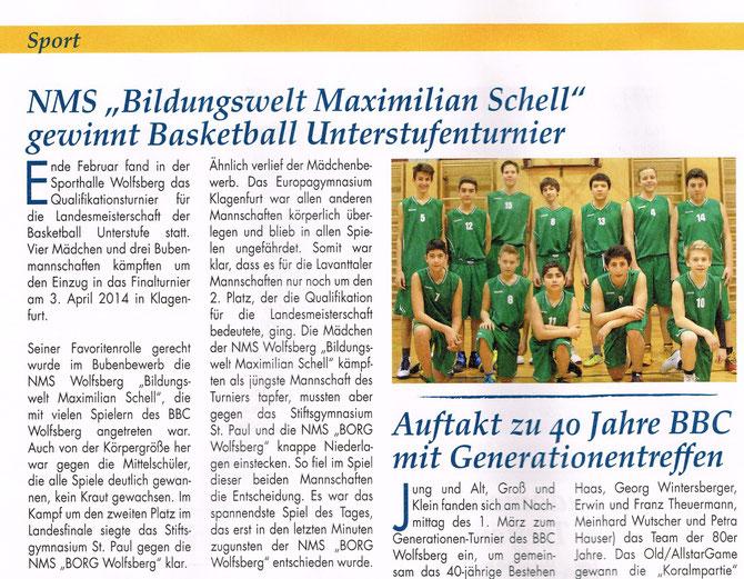 Wolfsberger Zeitung April 2014