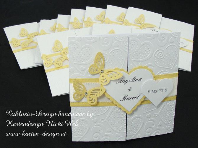 Hochzeitseinladungen, Einladung zur Hochzeit, Lovecard, Einladung mit Herz, Kartendesign, Nici, Heß, Nicki, Hess, Straßwalchen, Karten, Einladungen