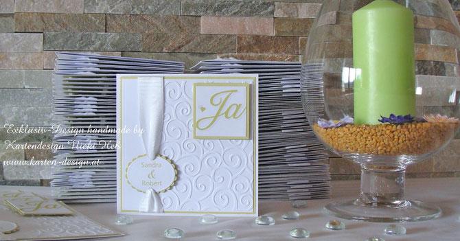 Hochzeitseinladungen, Hochzeit, Hochzeitskarten, Einladungen zur Hochzeit, Kartendesign, Heß, Straßwalchen, Kartenshop, Kartengalerie
