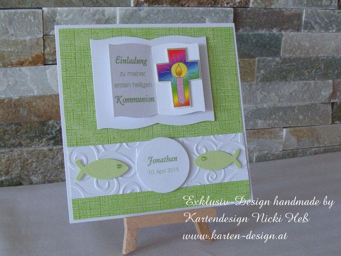 Einladungskarten zur Kommunion, Konfirmation, Firmung, Kommunionseinladungen von Kartendesign Nicki Heß neu im Kartenshop