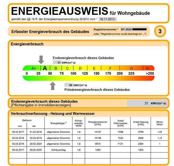 Energieverbrauchsausweis Muster Wohngebäude