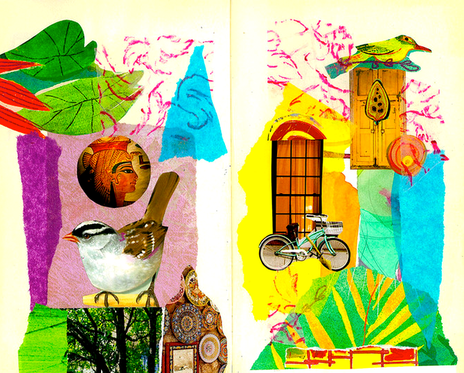Collage Journal by Shelley Klammer