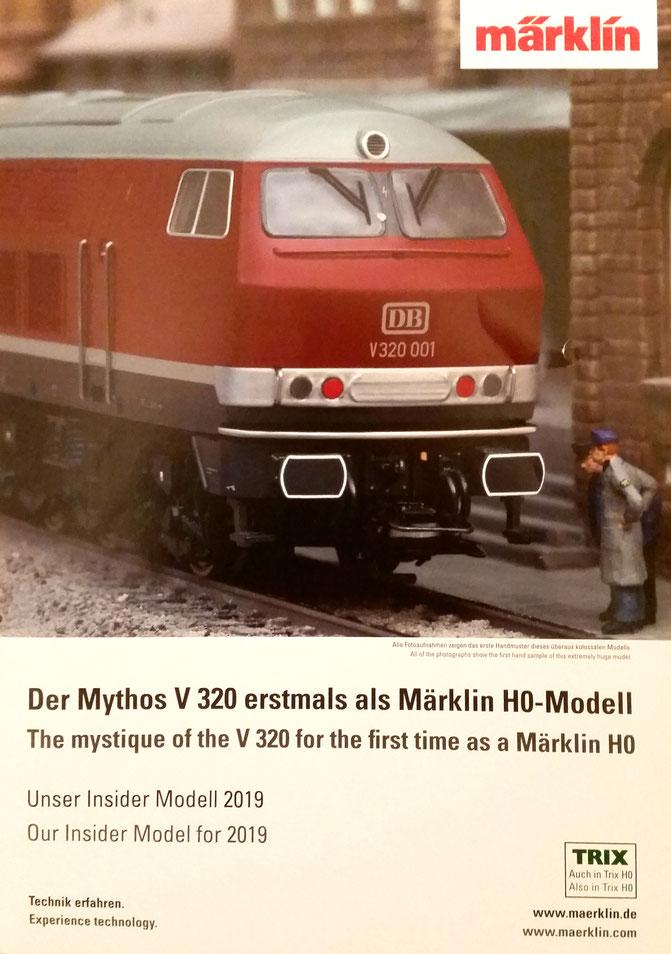 H0 Märklin Trix V320 DB Insidermodell 2019