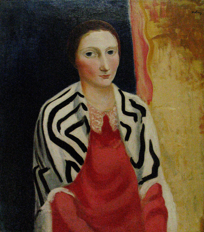 《ルネ・キスリングの肖像》1919年