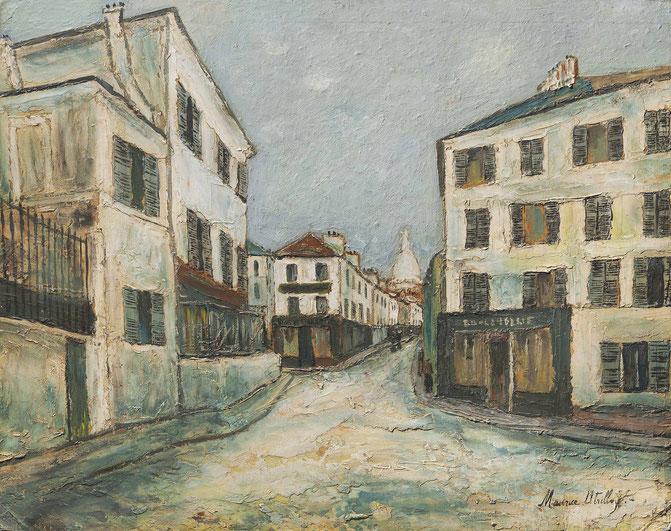 《モンマルトルのノルヴァン通り》1910年