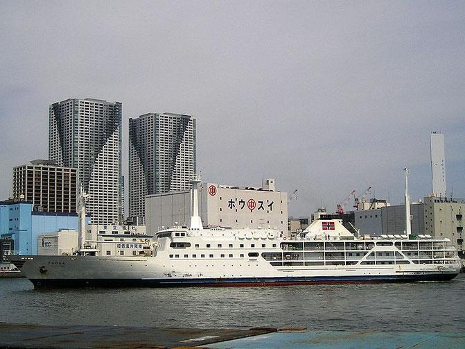 Sarubia maru, one of the ships to travel to the island  Source: Wikipedia