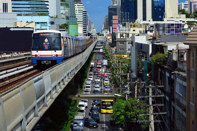 タイ、バンコク、街並み、