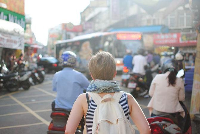 タイ、旅行者、