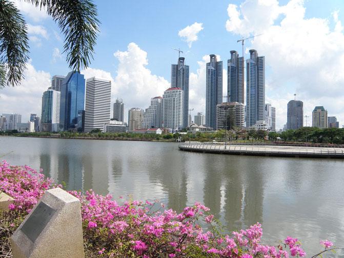 タイ、バンコク、建物、街並み、