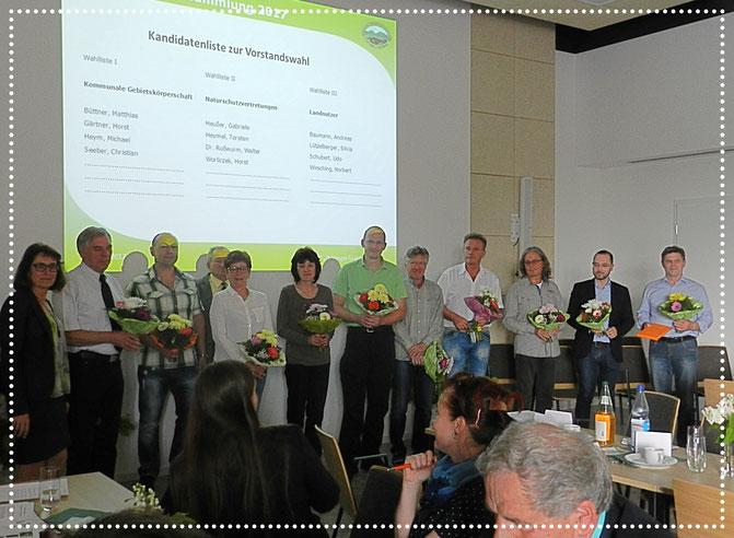 v.l.n.r: Sandra Radloff, Dr. Walter Rußwurm, Torsten Heymel, Henry Warmuth, Norbert Wirsching (1. Vorsitzender), Andreas Baumann, Gabriele Heußer, Michael Heym, Horst Gärtner, Ingo Hein, Udo Schubert, Verena Volkmar (Geschäftsführerin LPV)