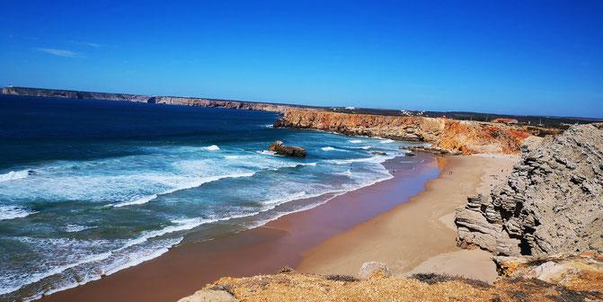 Strand an der Algarve, Portugal.