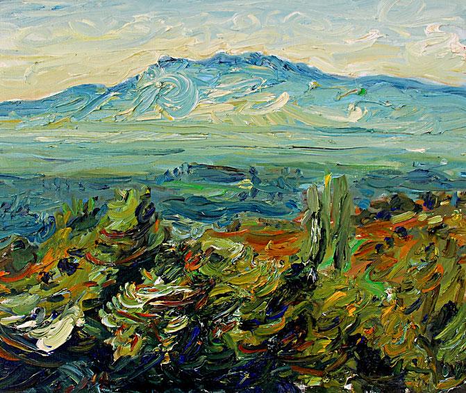 Dentelles de Montmirail   2004, Öl auf LW, 46 cm x 55 cm