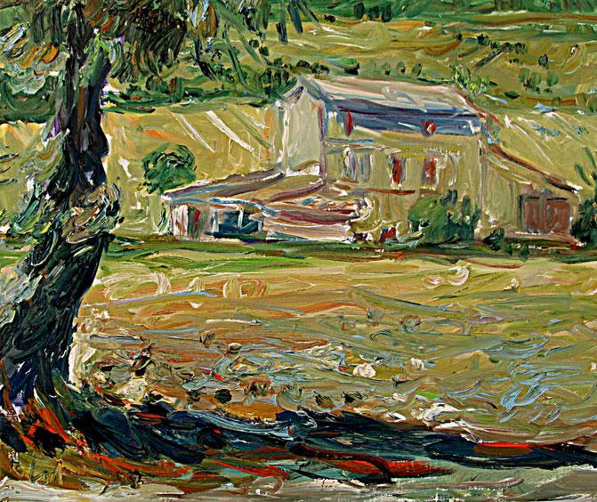 Landschaft bei Bonnieux   2008, Öl auf LW, 46 cm x 55 cm