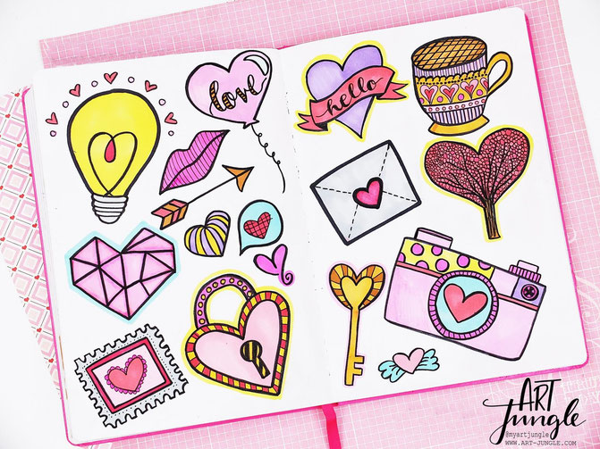 Valentinstag Doodle Drawings Love Valentines Day