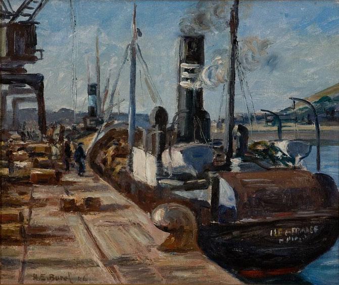 L'Ile-de-France à quai, 1946