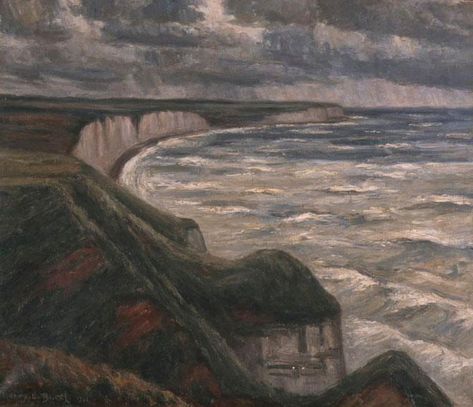La rade de Fécamp par temps gris, 1931