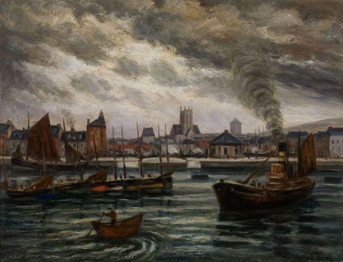 L'avant port, navires dans le bassin