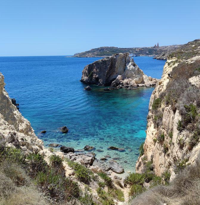 Bucht auf Gozo