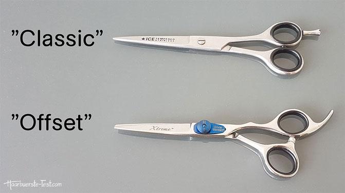 classic schere, offset schere