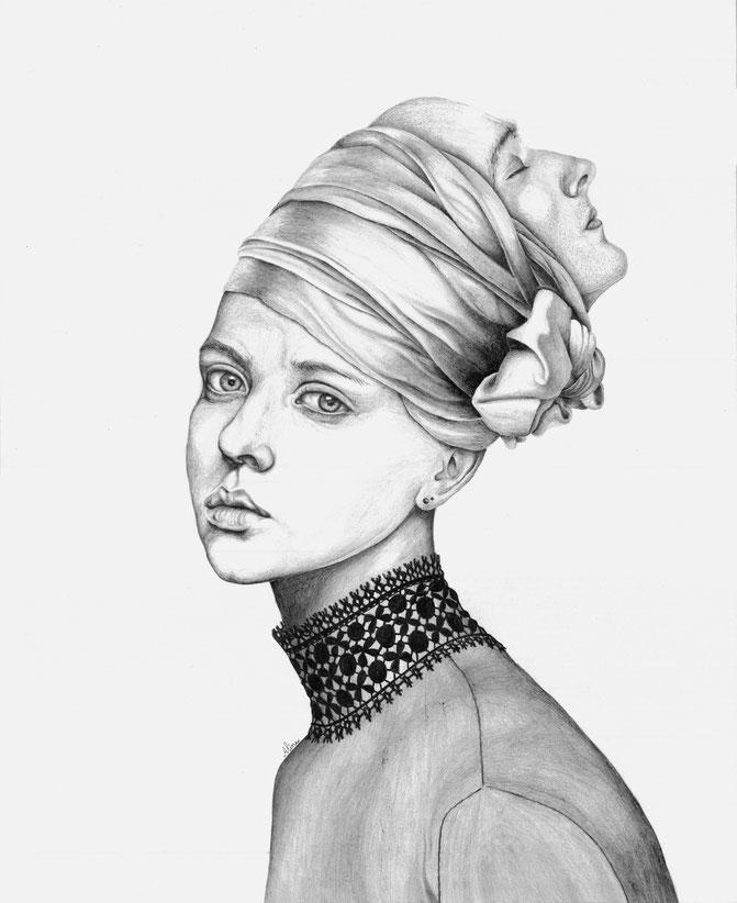 Salomé, Crayon graphite, 60 x 40 cm, 2016