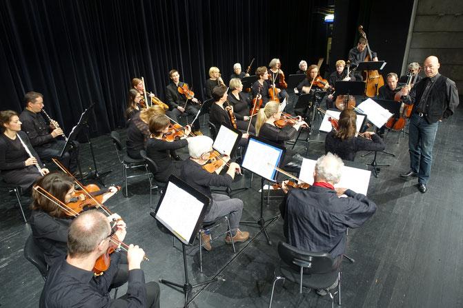 Orchesterprobe im La Poste Visp, Frühling 2016