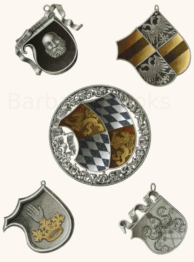 Wappenschilde aus den Jahren 1463 – 1486.