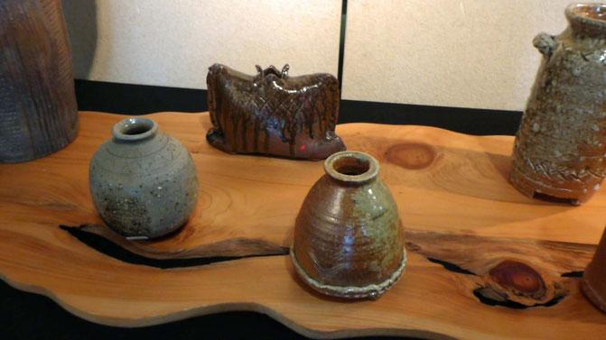 旅立つ花器に赤く小さな♥の目印。 幸せな花器です。 竹嵐 荻野和久 制作