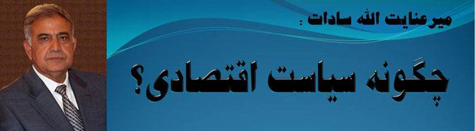 میر عنایت الله سادات چگونه سیاست اقتصادی