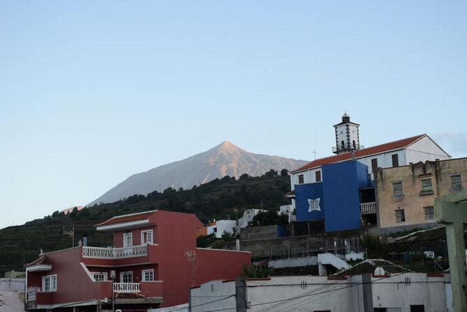 Blick aus unserem Haus in La Vega direkt auf den Teide