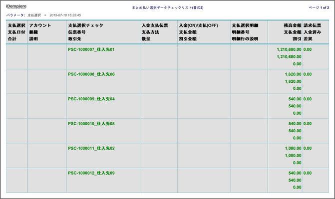 まとめ支払伝票の作成準備チェックリスト(SAMPLE)