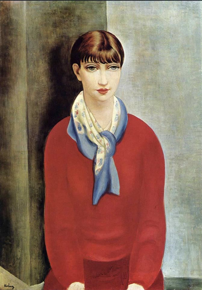 《赤いジャンパーと青いスカーフのモンパルナスのキキ》1925年