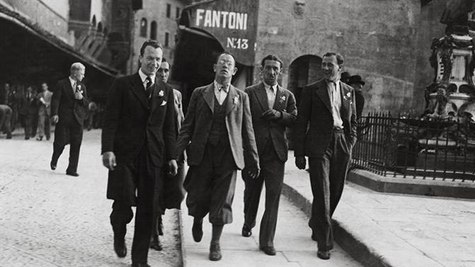 Otto Nerz, au centre, fut le premier sélectionneur de l'histoire du football allemand.