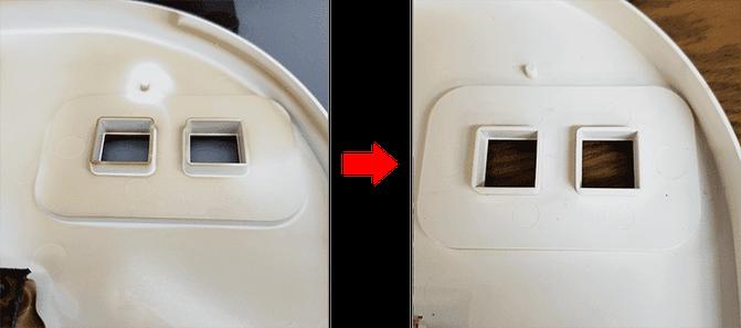 左:掃除前   右:掃除後