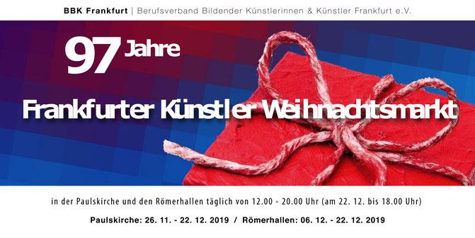 Flyer Frankfurter Künstler Weihnachtsmarkt, Jan-Malte Strijek, Paulskirche