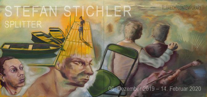 """Titelbild: """"Zenit"""" 300 x 150 cm, Öl auf Leinwand, 2019"""