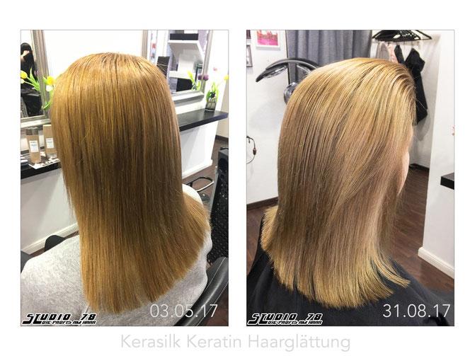 Kerasilk Keratin Haarglättung vorher nachher 4 Monate
