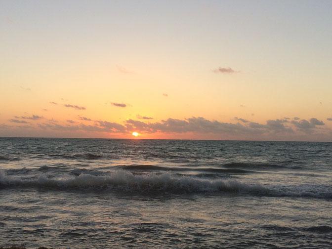 L'alba a Playa Maroma...un regalo del jet lag!