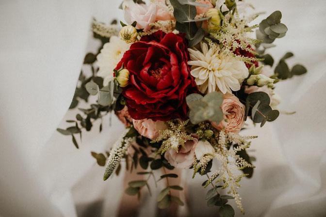 Brautstrauß Boho, Scheunen Hochzeit im Boho Stil