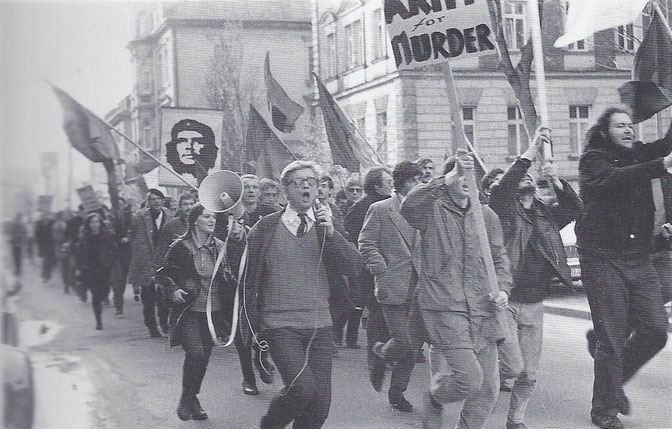 Vietnam-Demonstration in Bamberg, 6. April 1968. Foto: Werner Kohn