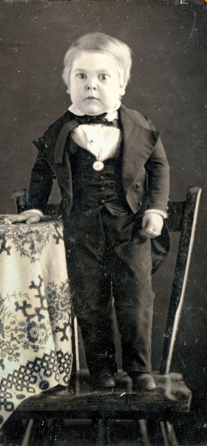 10歳の頃のトム・サム(1848年)