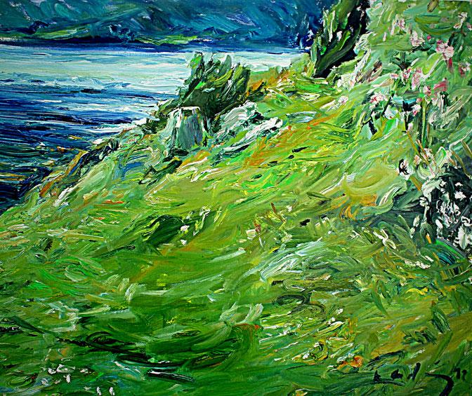 Gräberfeld Amnes   2012, Öl auf LW 46 cm x 55 cm