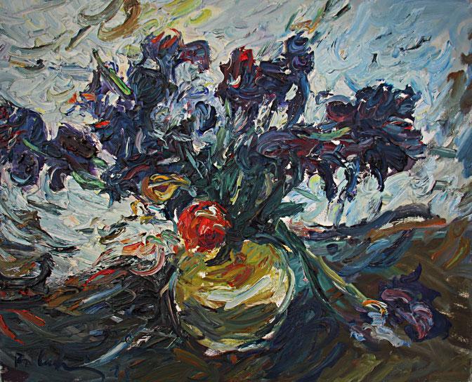 Schwertlilien   1995, Öl auf LW, 50 cm x 61 cm